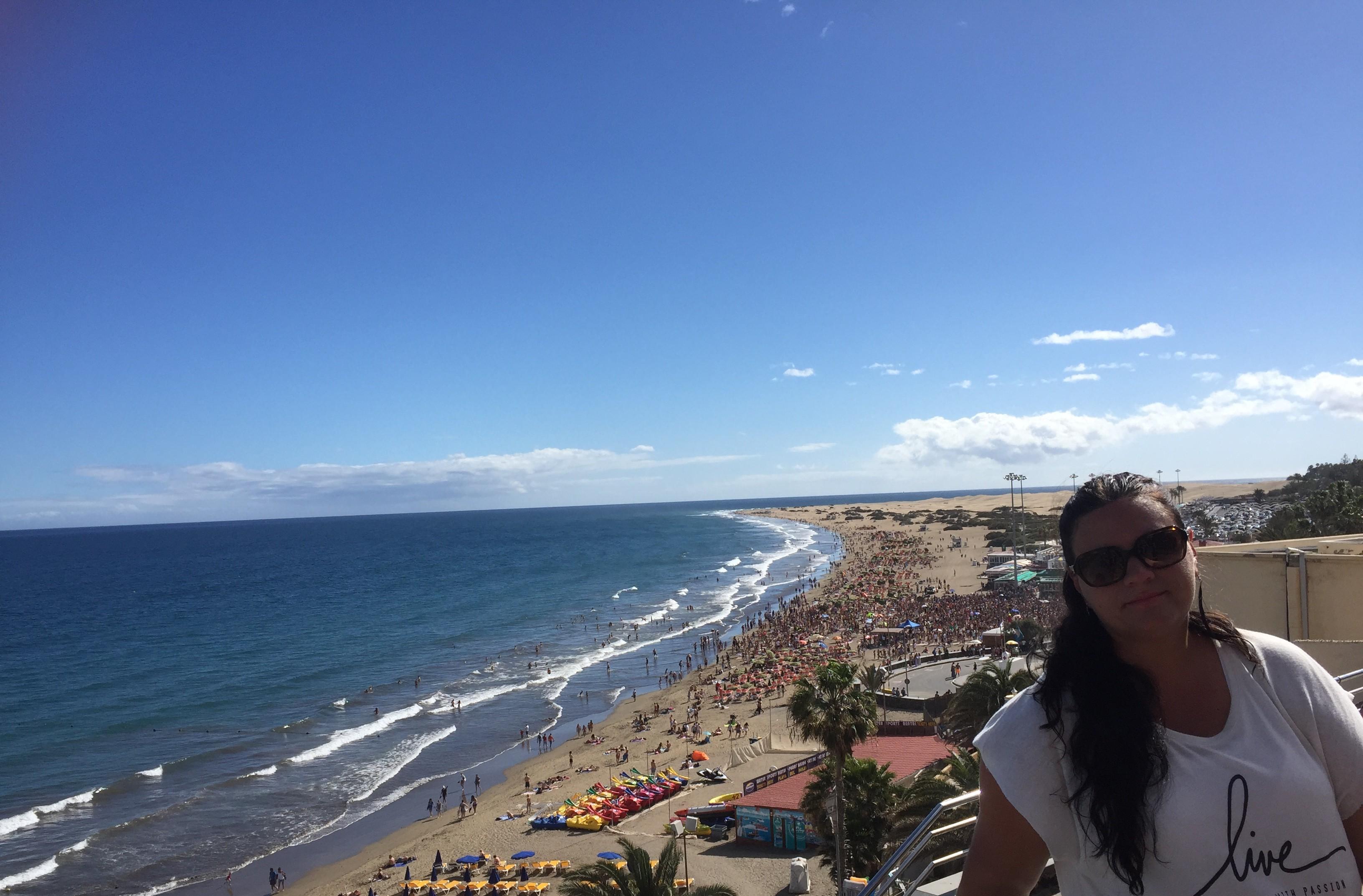 Utsikt över Playa del Ingles stranden
